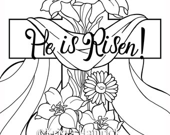 Easter coloring page Etsy