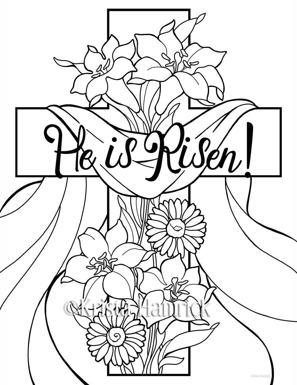 he is risen 2 easter coloring pages for children
