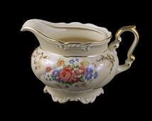 Creamer, PMR Bavaria, Jaeger and Co., Germany, Floral Pattern, Gold Trim