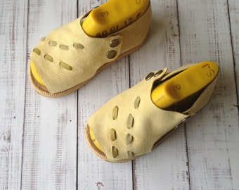 Soft leather toddler sandals - open toe toddler shoes - suede sandals - sandals for girls - summer shoes for girls