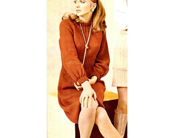 Women's Retro Dress Knitting Pattern from the 60s