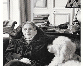 Gertrude Stein Postcard Unused Paris 1946 Photographed by Horst