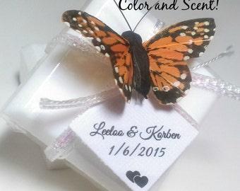 Unique Wedding Favor Soaps, 16 Butterfly Bridal Shower Favors, Natural Wedding Soap Favors, Rustic wedding, Custom Favors