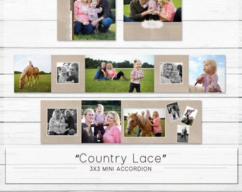 "3x3 Accordion Mini Template - ""Country Lace"""