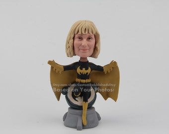 Funny Batwoman bobblehead - gift for coworker, funny gift for coworker, personalized gift for coworker, gifts for women