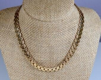 Vintage Reinad Choker Necklace Gold Tone Vintage Choker Necklace Signed Reinad Mid Century Vintage Reinad Necklace