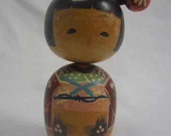 Vintage Japanese Young Girl  Kokeshi Doll