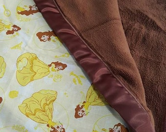 Belle Beauty and The Beast Baby / Toddler Blanket