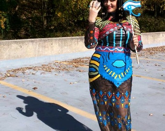 Katy Perry Dark Horse inspired cosplay full costume with accessories, egyptian queen costume