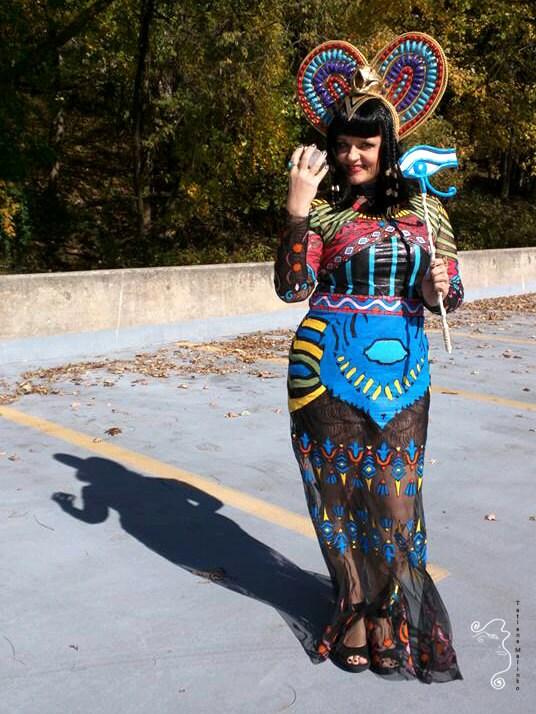 Katy Perry Dark Horse inspired cosplay full costume with Katy Perry Dark Horse Egyptian Costume