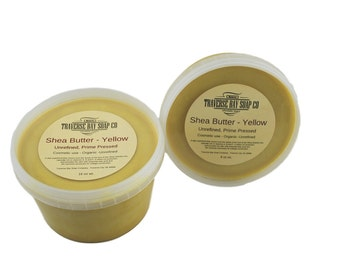 Shea butter, 16oz, 1 pound WEIGHT. yellow Ghana,unrefined, raw, Soap making, lotion,creams, bath, beauty, lip balm