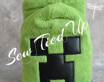 Creeper Hooded Towel #1103