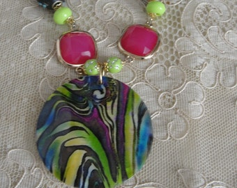 Multi Colored Shell Necklace Set