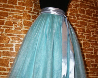 Mint/Milk Tutu Skirt Midi Tulle Skirt