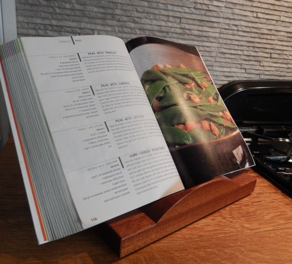 Recipe stand recipe book stand handmade sapele mahogany - Cream recipe book stand ...