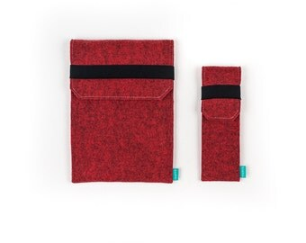 iPad Pro 9.7 case, iPad Pro 12.9 sleeve, iPad Pro, iPad Pro felt case, iPad sleeve, red iPad Pro case, Gopher