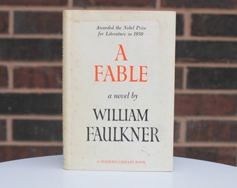 A Fable - William Faulkner - Modern Library Book - Vintage Book - Book Lover - 1966 - Classic Book - Literature