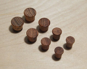Ear Plugs - hand turned from Mesquite  7/16,00g,0g,1g