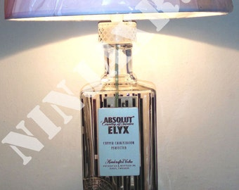 Table lamp Bottle Vodka Absolut Gopi 3 litres empty reuse recycling creative idea gift furnishing Design