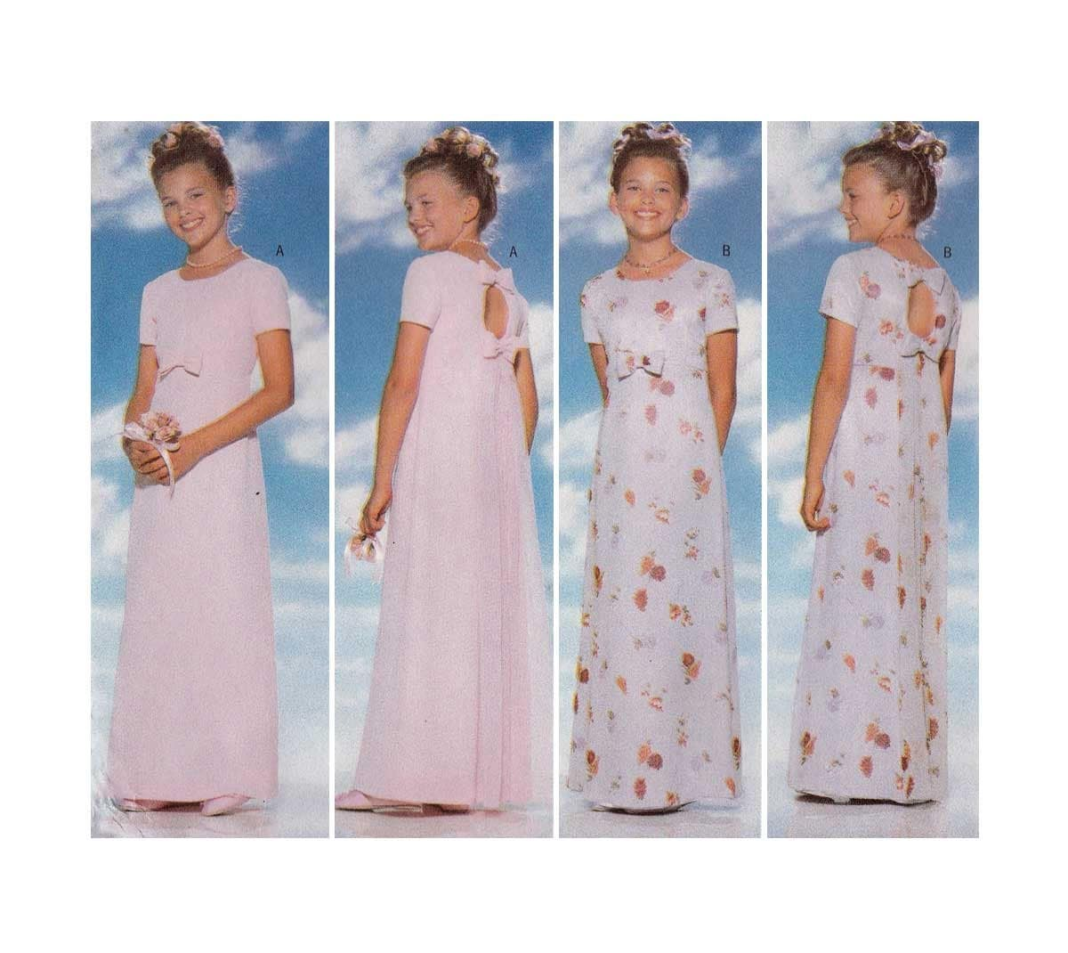 Girls formal dress evening length sewing pattern size 12 14 zoom ombrellifo Gallery