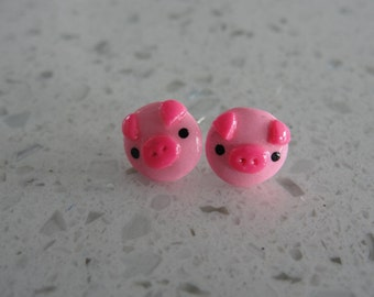 Pink Piggy Earrings