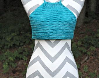Crochet Halter Top / Hippie Top / Bohemian / Crochet Top