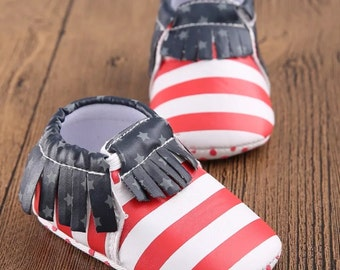 Baby first Fourth of July - first 4th of July - baby Fourth of July shoes