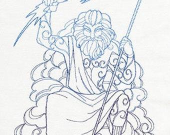 Zeus Cushion Cover Embroidered Pillow god goddess Greek mythology