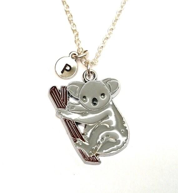 koala necklace koala charm koala pendant by