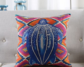 Turtle throw pillow case pillow cover