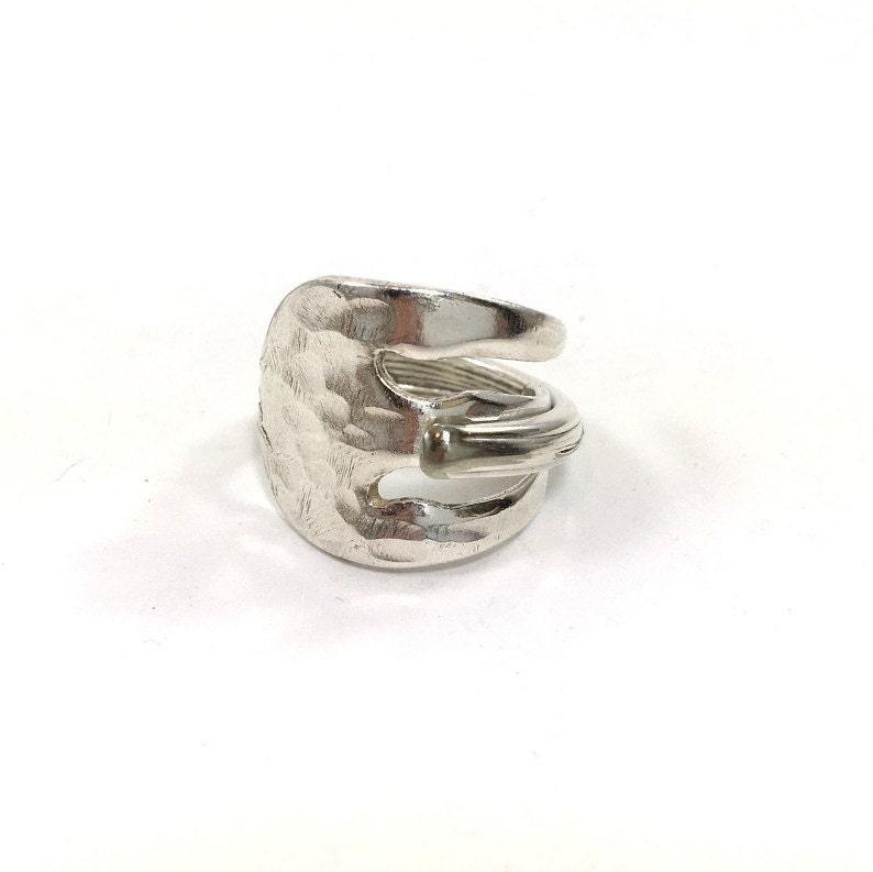 vintage spoon ring pickle fork silverware jewelry