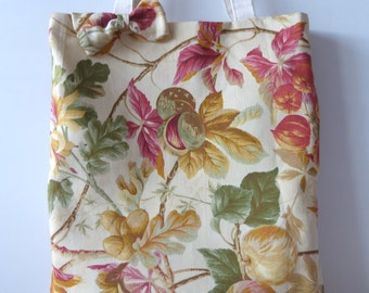 Floral Tote Bag with Bow
