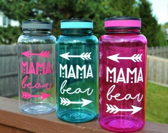 Mama Bear Water Bottle // Gift for Mom // Baby Shower Gift // Gift for New Mom // Mom gifts under 15 // Gift for her // Mama Bear Cup