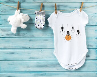 Idea baby bodysuit, baby shower gift, cute baby clothes, baby girl bodysuit, baby boy bodysuit, hipster baby clothes, unique baby outfit