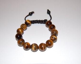 Tiger Eye Bracelet,Tiger Eye Shamballa Bracelet,10mm Tiger Eye Gemstone Beads,Man,Woman,Yoga,Meditation Bracelet,Ethnic Bracelet,Gift