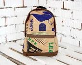 Vegan Backpack Rucksack Unisex Men Women Streetstyle Minimalistic Hipster Bag Ecobag Innovative Recycled Material Kraft Paper Birthday Gift
