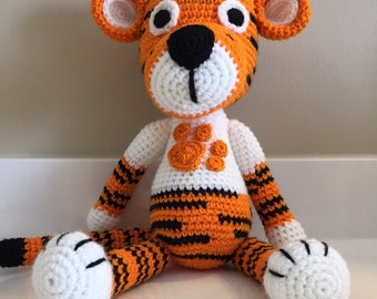 Tiger in Clemson Sweater