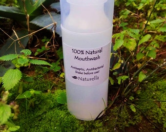 100% Natural Mouthwash Antiseptic, Antibacterial, Vegan, 100 - 500 ml Oral solution for periodontitis, gingivitis, dental plaque, bad breath