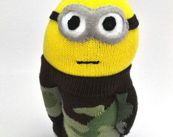 Minion Sock Toy - Camouflage