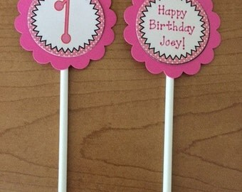 Cupcake Toppers- SET OF 12