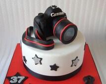 Camera Cake Topper, 3D Fondant Digital Camera, Photo Themed Birthday Party, Photographer Party Decor, Camera Wedding Cake Topper, 1 pc