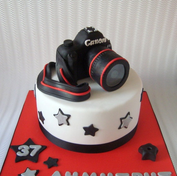 Birthday Cake Images For Camera : Camera Cake Topper 3D Fondant Digital by SweetCakeByAnastasia