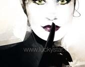 Catwoman / Illustration numérique / Idée cadeau originale / Anniversaire / Art / Tableau / Décoration / Affiche / Cadeau créateur / Affiche