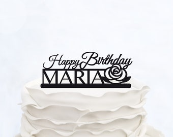 Personalized Happy Birthday Cake Topper_Anniversary Cake Topper_Birthday Cake Topper_Custom Cake Topper_Birthday Decoration_Cake Decoration