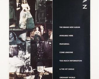 DURAN DURAN Self-Titled (The Wedding Album) Original 1993 British Promotional Poster