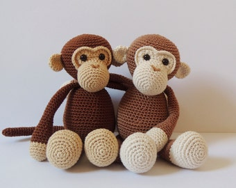 Crochet pattern monkeys Michel and Robin - Amigurumi pattern monkey