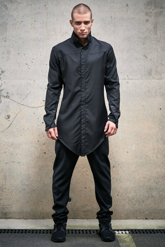 items similar to button shirt futuristic mens top