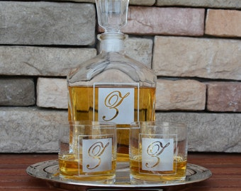 Father of The Bride, Whiskey Decanter, Personalized Whiskey Decanter, Decanter, Groomsmen Gift, Glass Decanter, Liquor Decanter