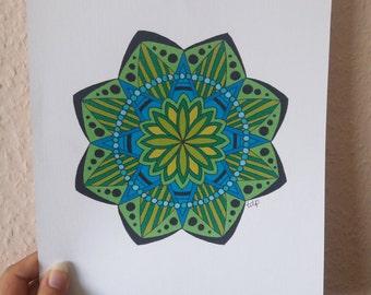 Mandala I, mandala art print