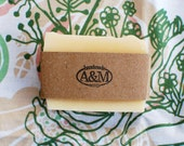 All Natural Lemongrass Rosemary Soap with Essential Oils and Shea Butter